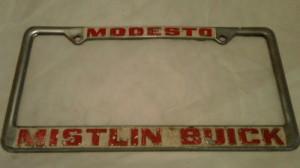 mistlin buick plate frame
