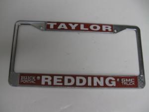 redding taylor buick dealership plate frame