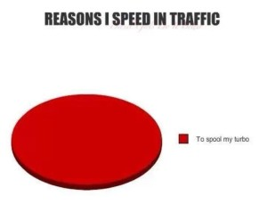 speeding in traffic