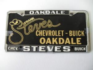 steves buick plate frame