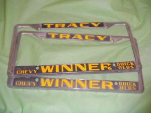winner buick license plate frame