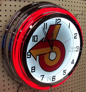 18inch BUICK Grand National Turbo 6 Double Neon Clock red