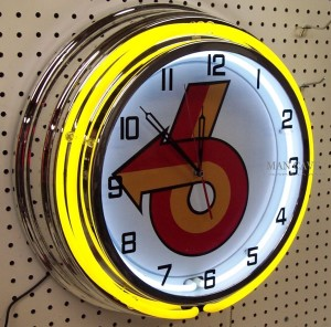 18inch BUICK Grand National Turbo 6 Double Neon Clock yellow