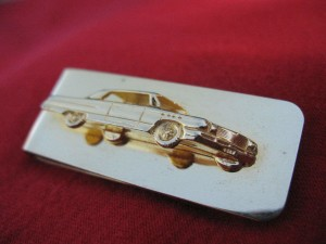 1962 buick 18k gold plated money clip