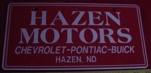 HAZEN MOTORS BUICK PLATE