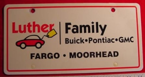 LUTHER FAMILY BUICK PLATE