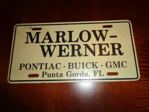 Marlow Werner Buick Plate