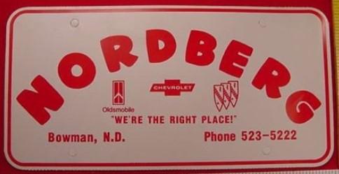 NORDBERG BUICK PLATE