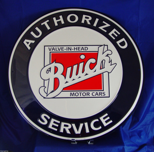 buick motor cars sign