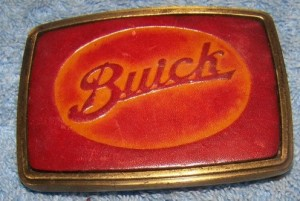 buick script belt buckle