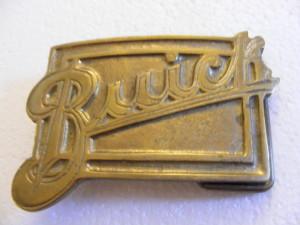 buick script logo solid brass belt buckle