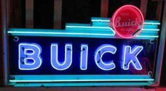 old porcelain neon buick sign