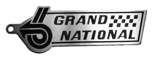 Buick Grand National Power 6 Stainless Steel Laser Engraved Key Chain