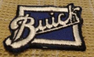 buick script logo black outline patch