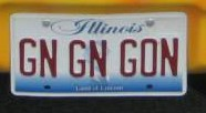 gn gn gone plate