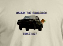 haulin the groceries shirt