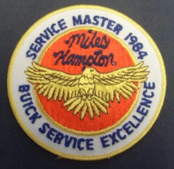 miles hampton buick service master 1984 patch