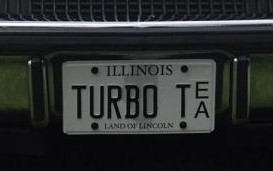 turbo t license plate
