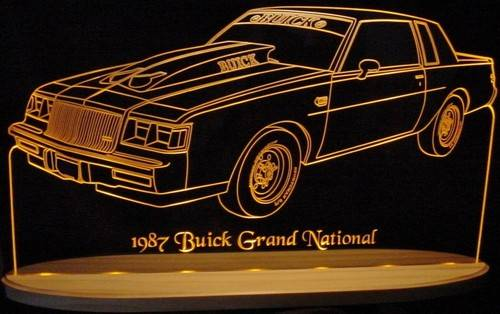 1987 Buick Grand National Acrylic Lighted Sign 13 inches Wide