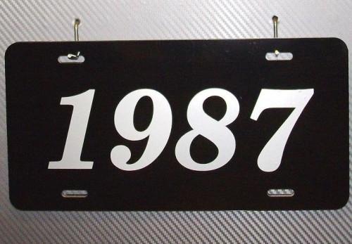 1987 metal license plate
