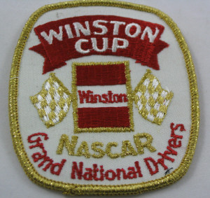 Gold Nascar Winston West Grand National Drivers Uniform Patch