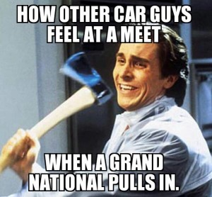 buick grand national pulls into car show