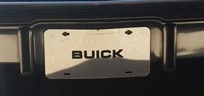 chrome buick plate