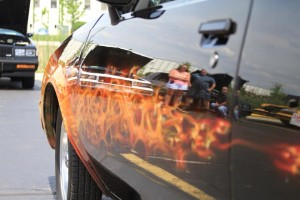 flames on buick gn 6
