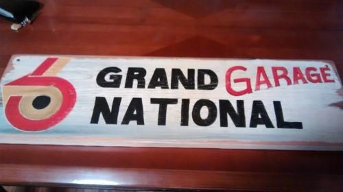 grand national garage sign