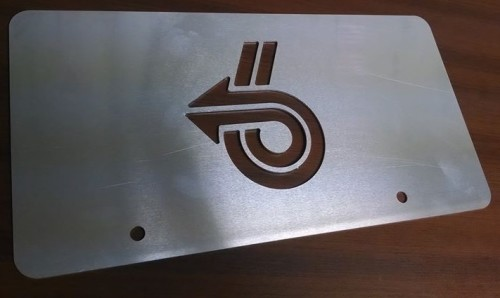 laser cut turbo 6 arrow license plate
