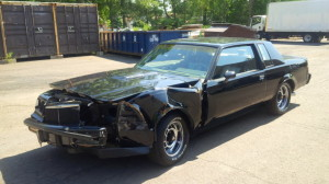smashed buick grand national 1