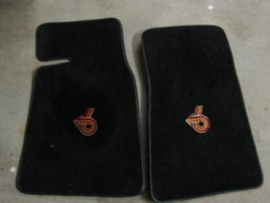 turbo 6 logo floormat