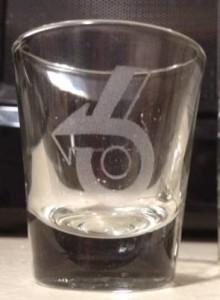 turbo 6 logo glass