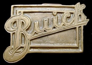 1970s buick script logo belt buckle