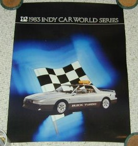 1983 buick indy poster