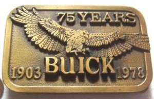 75 YEARS BUICK BELT BUCKLE