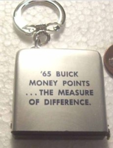 BUICK 1965 TAPE MEASURE KEY CHAIN