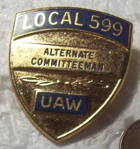 BUICK LOCAL 599 ALTERNATE COMMITTEEMAN BADGE