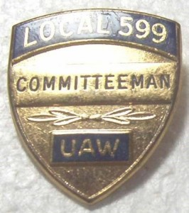 BUICK LOCAL 599 COMMITTEEMAN BADGE