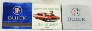 BUICK LOGO BOOK MATCHES