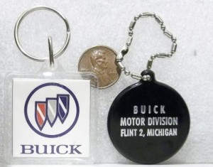 BUICK MOTOR DIVISION FLINT 2 MICHIGAN KEY RINGS