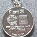BUICK POWERTRAIN PLANT #36 FLINT MI PLANT CLOSING KEY CHAIN 2