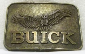 BUICK WITH HAWK BELT BUCKLE