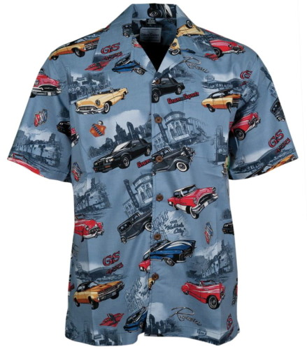 Buick Classic Cars Hawaiian Camp Shirt