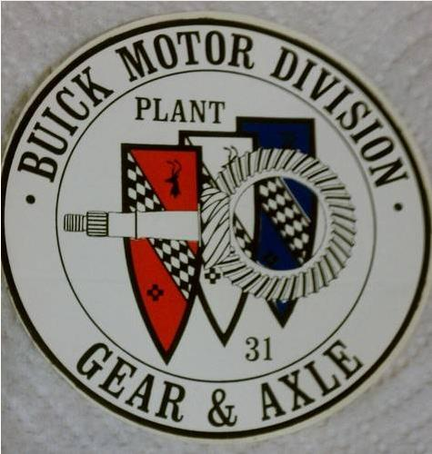 Buick Motor Division Gear and Axle Plant 31 sticker
