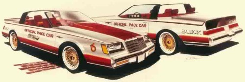 DRAWING BY BUICK DESIGNER STEVE PASTEINER