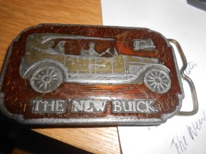 THE NEW 1921 BUICK BELT BUCKLE FROM THE 1970S