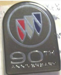 buick 90th anniversary emblem