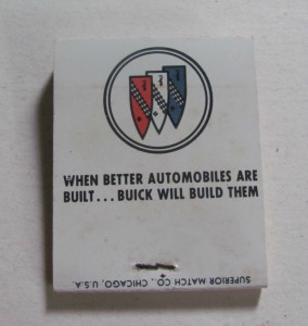 buick better automobiles matchbook