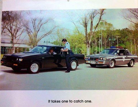 buick t-type cop car